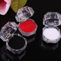Acrylic Crystal Clear Ring Box Transparent Black White Red B...