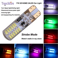 10pcs T10 3014smd Strobe License plate Car indicator Lamp wi...