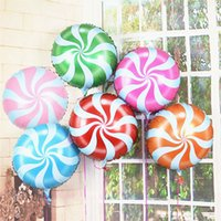 Palloncino da 18 pollici Lecca-lecca Grandi palloncini in foglio di alluminio Regalo gonfiabile Pallone di compleanno per bambini Pallina per decorazioni per feste