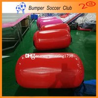 Free Shipping ! Fitness Exercise Equipment Training Gym Tumble Air Roller Inflatable Gymnastics Track Roller Air Barrel Roll