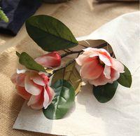2018 년 새롭게 출시 된 실크 플라워 목련 홈 장식용 Art Artailail Flower 생생하고 섬세한 목련 홈 장식용