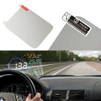 120 * 90mm Araba HUD Film yansıtıcı film Sıcak Araba Styling OBD II Yakıt Tüketimi Aşırı Hız Ekran Araç monte Head Up Display ...