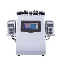 40khz 6 em 1 máquina ultra-sônica da beleza da perda de peso do emagrecimento do laser de Lipo da freqüência de rádio do vácuo da cavitação para termas
