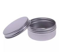 NEUE 5 10 15 30 60 100 150 200 250 ml Leere Aluminium Kosmetische Container Topf Lippenbalsam Jar Tin Für Creme Salbe Handcreme Verpackung Box