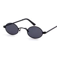 2020 أحدث صغيرة البيضاوي نظارات الرجال النساء لطيف مثير خمر النظارات الفاخرة مصمم ظلال معدنية zonnebril mannen uv400
