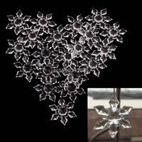 20PCS Clear Christmas Snowflakes Ornaments Holiday Party Xma...
