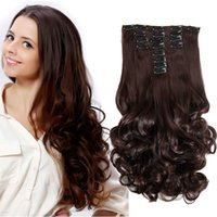 Sara 50CM 20Inch Kinky Curly Clip in on Hair Extensions 6PCS...