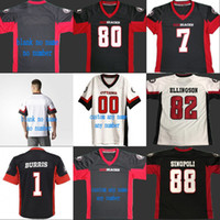 2018 New Style Ottawa Redblacks 7 Darien Harris 1 Henry Burris 80 Chris Williams 82 Greg Ellingson 88 Brad Sinopoli Fußballtrikots