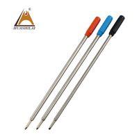 مصنع مخصص بالجملة إجمالي ألمانيا الفضة أنبوب معدني سليم الكرة القلم حبر عبوة للمعادن القلم الصليب