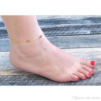 Gioielli di moda di figura di foglio d'argento o di colore placcati oro del metallo a catena per le donne del piede del calzino piccolo regalo