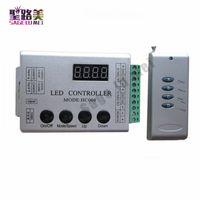 Envío gratis DC12V 4Keys HC008 controlador de píxeles led rgb programable, control de RF 2048 píxeles, 133 modos de efecto controlador ws2811