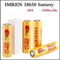 3500mAh Capacity Irmen 18650 battery Max 30A High Drain Batt...