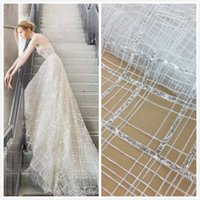 5 Yards new style Beautiful sequins french net bridal lace f...