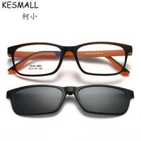 KESMALL 2018 TR90 Ultralight Retro zonnebril HD Gepolariseerde clip op zonnebril Rijden Magnetische Eyewear Oculos UV400 BY398