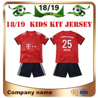 18 19 Bayern Kids kit Jersey de fútbol 2019 Home Red 25 MULLER 11 JAMES ebc0c26e11ad1