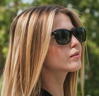 نظارة شمسية للنساء بتصميم ريترو جديد ووك سكوير عيار 55 مم ، نظارة شمسية بتصميم مستطيل من الهيب هوب للرجال ، مع صندوق فاخر.