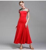 3 цвета красный бальный зал платье женщина фламенко танцевальные костюмы танго платье испанский танец платье бальный вальс платья танцевальная одежда