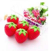 Squishy Strawberry Slow Rising Spielzeug Dekompressionsbrot Stress Kuchen Sweet Fruit Handy Gurt Telefon Anhänger Schlüsselanhänger Spielzeug Geschenk