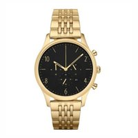 Classic fashion large dial quartz watch for men 1893 Gold+ Bl...
