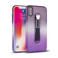 Per Samsung Galaxy S8 PLUS NOTE 8 Per Huawei mate P10 PRO Glitter bicolore graduale TPU nascosta custodia protezione per il telefono