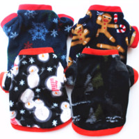 Winter warm pet dog jackets for chiristmas classic pattern d...