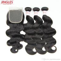 Body Wave Remy Brazilian Hair 3 Bundle with Closure Jingles ...