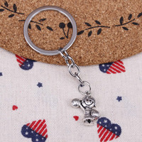 New fashion key chain cheerleaders girl 22*15mm pendant DIY ...