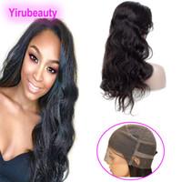 Brésil Virgin Hair 360 Lace Frontal Perruques Couleur du corps naturel Vague 360 Lace Wig corps bretelles réglables dentelle de vague perruques