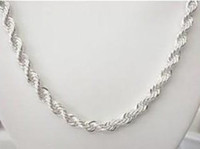 "925 Sterling Silver Necklace, Fine 4MM Men Women 16"" - 3..."