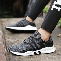 Breathable Mesh Running Shoes Men Flat Walking Sneakers Prof...