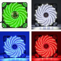 New 12cm Ultra Silent LED Case Fans Light Up 15 Leds Cooling...