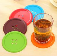 Круглые силиконовые подставки кнопка подставки Кубок коврик для дома напиток Placemat посуда каботажное судно чашки колодки 5 цветов SN691