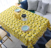 Vintage Party Birthday Table Cloth Large Tassel Linen Coffee...