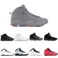 Cool Grey 10 Basketskor 10s X Men Venom Westbrook Klass av 2006 Cement Chicago Stealth Grey Infrared Jag är tillbaka sport sneakers