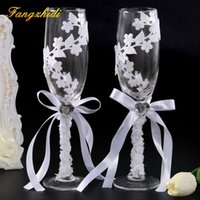 1 Set Wedding Series Wine Glass Set Lace champagne Glasses C...