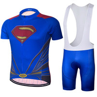 New 2018 Roupa Ciclismo Superman Cycling Jersey Set Short Sleeve cycling  jersey With Padded Bib Trousers Ultra Breathable Bike Wear 2ccd1ebe9