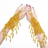 2 Kleur Goedkope Jewelries Elastische Indische Danskostuum Accessoires Buik Dansen Armband Voor Vrouwen