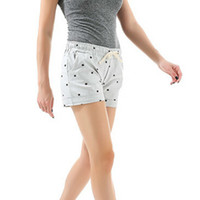 2018 Summer Women Home Casual Elastic Waist Shorts Printed C...
