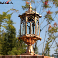 Outdoor kolom koplampen, balkon waterdichte pijlerverlichting, Europese series