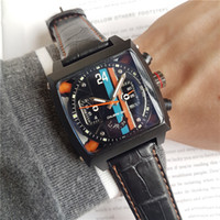 2018 New Black Mens sprots Date Self- wind leather Watch Top ...