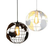 Глобус подвесные светильники черный / белый абажур для кухни бар столовая ресторан кафе украшения дома подвесной светильник