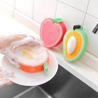 Bonito Rags Fruit Forma Esponja Pad Limpeza Esponja De Limpeza De Cozinha Prático Panos de Cozinha Descontaminação Conveniência Acessórios