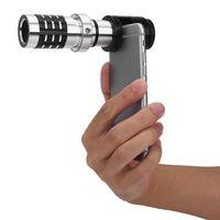 Cep telefonları Ücretsiz Nakliye için VBESTLIFE 1PCS Evrensel 12x Yakınlaştırma Telefoto Lens HD Teleskop Kamera Lens