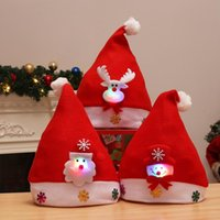 Edison2011 Kids Adult LED Christmas Hat Santa Claus Reindeer...