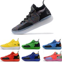 Più nuovo ZOOM KD Kevin Durant 11 XI seattle Paranoid Emoji cool grigio Triple Black Elite For Mens Scarpe da basket Athletic Sport air Sneakers