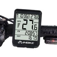 INBIKE IN321 Bicicleta Ordenador A Prueba de agua Inalámbrica LCD Odómetro Velocímetro de la Bicicleta Backlightspeed / sensor de velocidad de la bicicleta sin batería