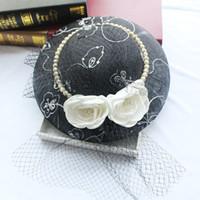2019 hotsale Yeni Kore tarzı gelin şapka keten vintage zarif headdress gelin kıyafeti aksesuarları gelinlik