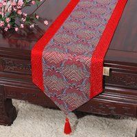 Latest Patchwork Seawater Chinese Silk Table Runner Wedding ...