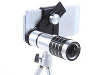 iPhone Samsung Xiaomi için 12X Zoom Optik Teleskobu HD cep telefonu kamerası Dış Telefoto Lens Evrensel klip