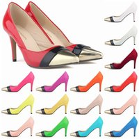 Women Luxury Brand Red Bottom High Heels Pointed Toe Patent ...